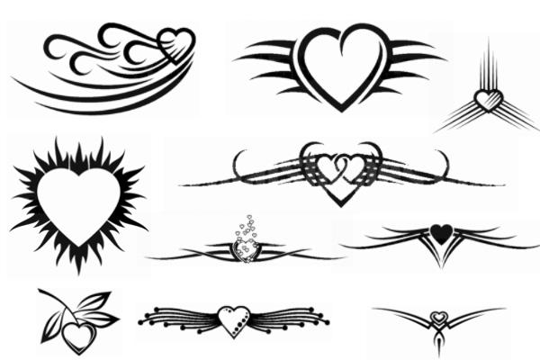 PS笔刷下载  非主流爱心图案装饰笔刷
