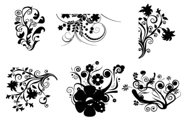 PS笔刷下载  高雅艺术印花图案