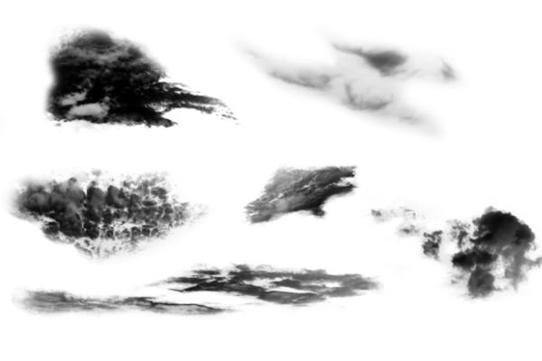 PS笔刷下载  高清云朵图案笔刷
