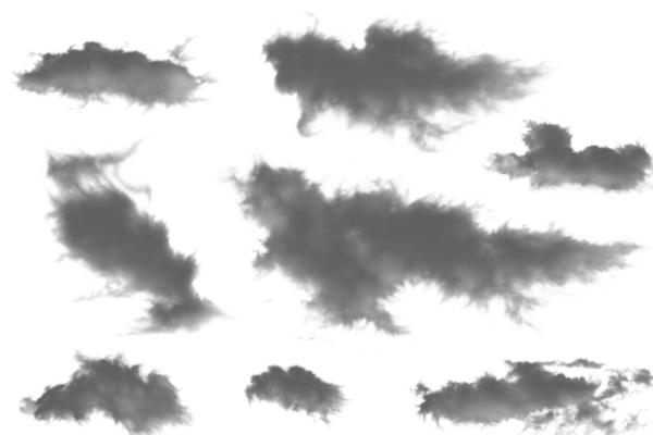 PS笔刷下载  云彩组合笔刷