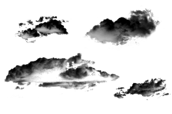 PS笔刷下载  4种天空中高清云朵图像笔刷