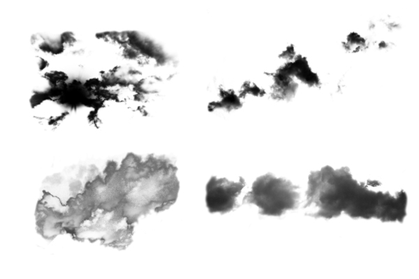 PS笔刷下载  天空乌云、云朵云层纹理笔刷