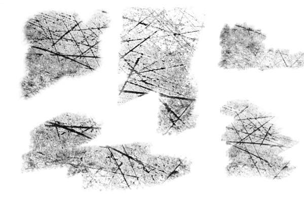 地面、墙面、天花板干裂、开裂纹理效果PS笔刷下载