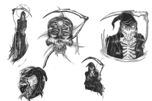 恐怖魔鬼、死神画像PS笔刷
