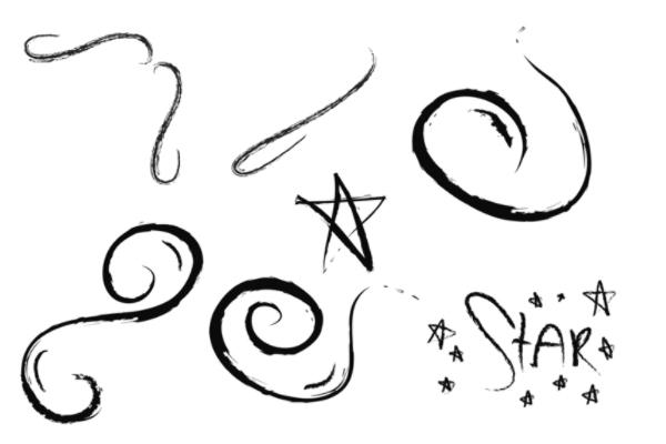 PS笔刷下载  手绘涂鸦式童趣笔刷