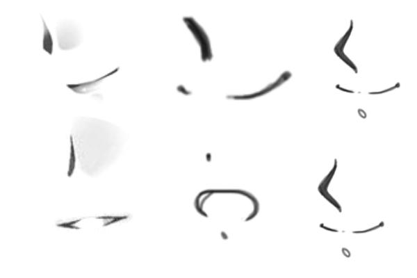 各种涂鸦表情图案PS笔刷