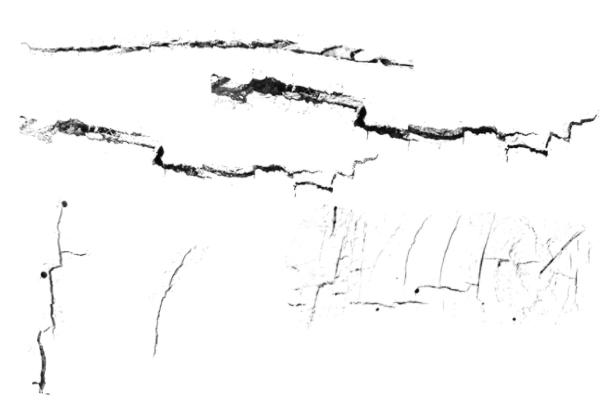 PS笔刷下载  水泥墙面裂缝纹理笔刷