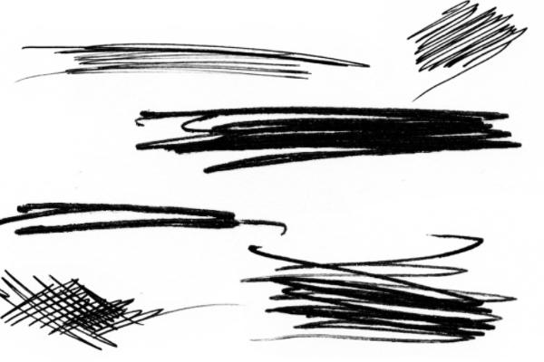 PS笔刷下载  笔迹痕迹、  铅笔划痕笔刷
