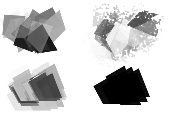 PS笔刷下载  玻璃碎片、碎片化纹理素材笔刷