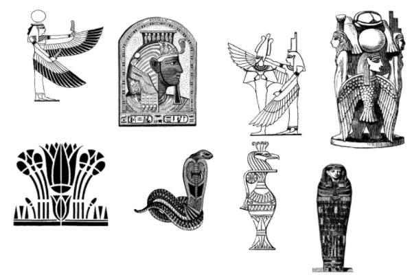 PS笔刷下载  神秘部落石像图案笔刷