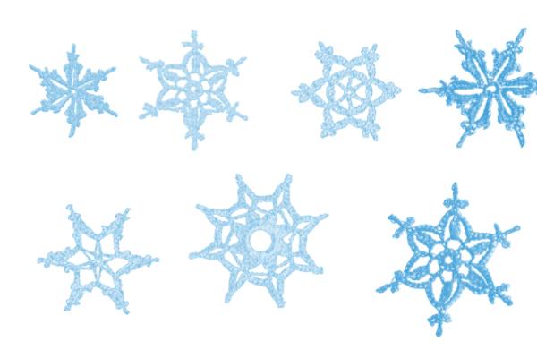 PS笔刷下载  精美雪花、花纹印花图案笔刷