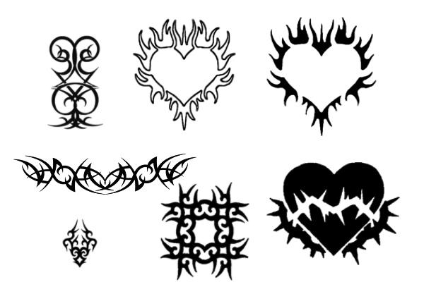 PS笔刷下载  超酷死神纹身、非主流刺青图案笔刷