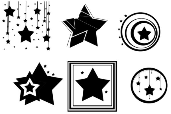 流星、星星装饰图案PS笔刷