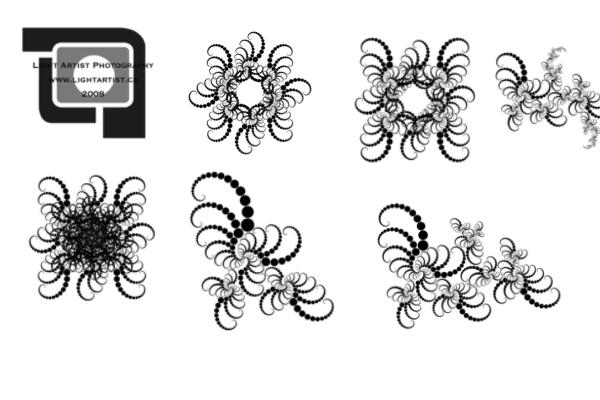 PS笔刷下载  花式分形效果印花图案