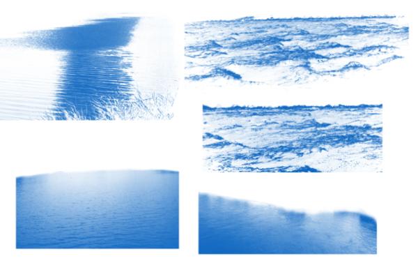 PS笔刷下载  水面、湖面、海面、波光嶙峋笔刷