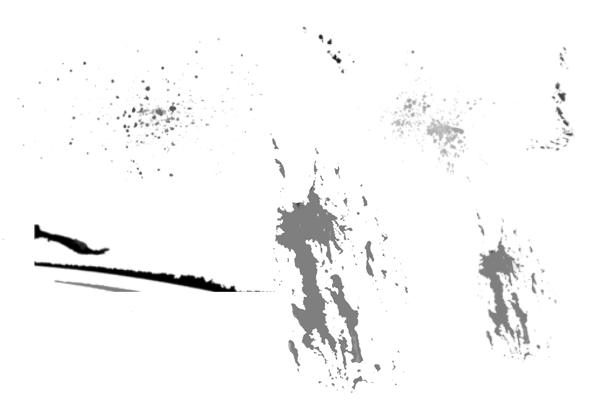 PS笔刷下载  飞溅滴溅效果纹理笔刷
