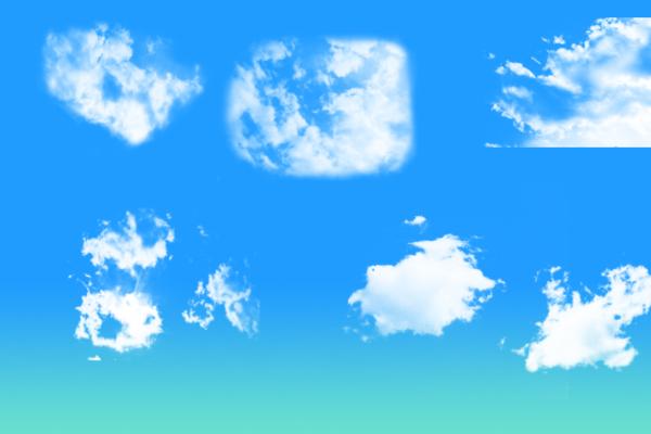 PS笔刷下载  高清云层纹理、云朵背景笔刷