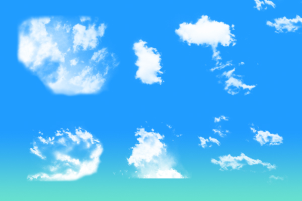 PS笔刷下载  天空云朵纹理效果笔刷