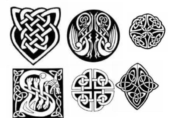 伊斯兰教风格的纹饰、图腾、印花花纹PS笔刷