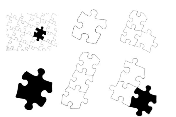 拼图模块、拼图图形PS笔刷下载