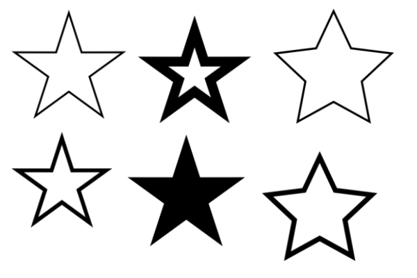 星星、月亮图案梦幻装饰PS笔刷