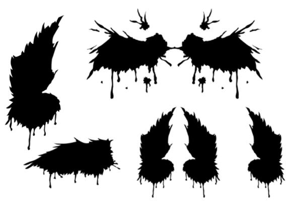 天使的翅膀、天使羽翼图案PS笔刷