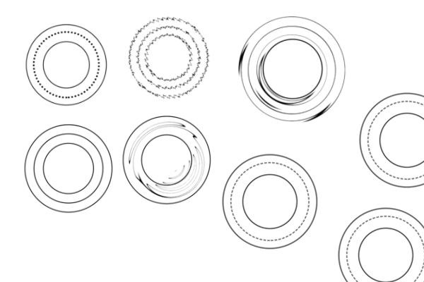 酷炫圆圈图案PS笔刷