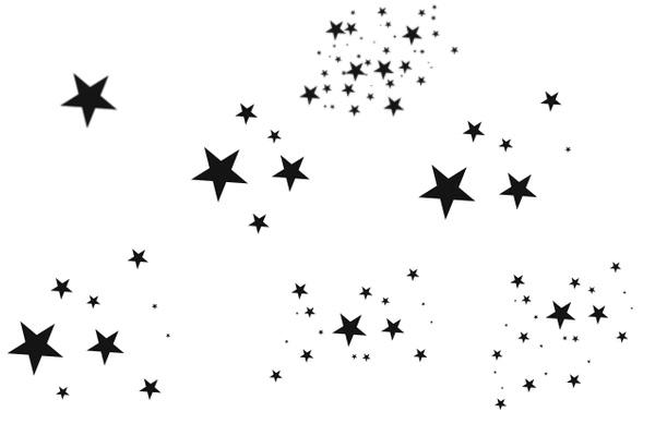 五角星、星星图案PS笔刷