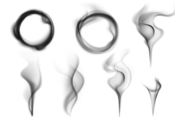 烟圈、烟雾效果PS笔刷