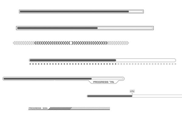 机械元素、分割线、进度条等PS笔刷