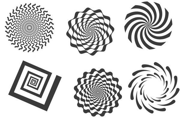 旋转花纹图案PS笔刷