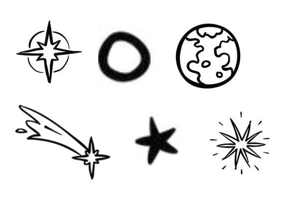 手绘宇宙元素PS笔刷