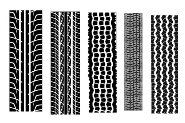 轮胎胎面花纹图案PS笔刷