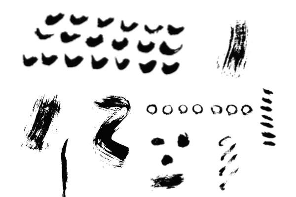 毛笔、画笔刷子痕迹PS笔刷