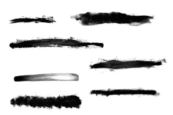 水墨、笔触、画笔纹理PS笔刷