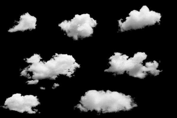 天空云彩、云朵图形PS笔刷