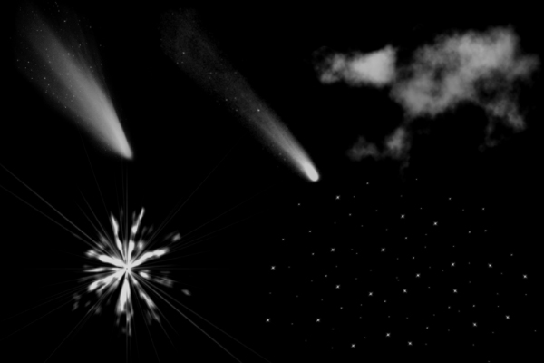 恒星、彗星、星云效果PS笔刷