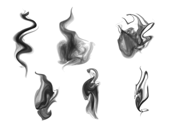 流动烟雾光影效果、水中水墨扩散PS笔刷