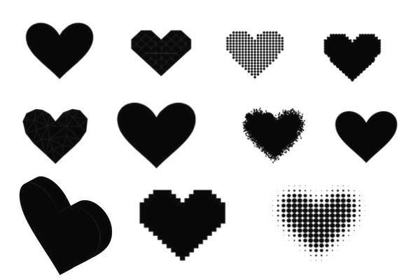 爱心、非主流心形图案PS笔刷