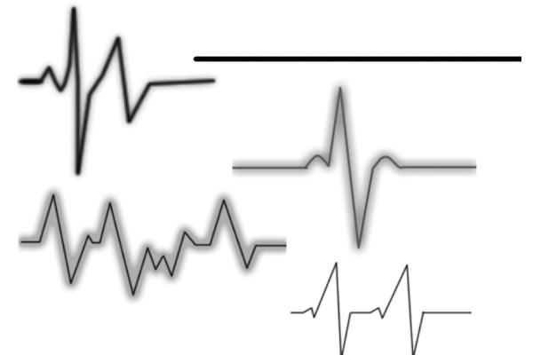 心跳图、心电图PS笔刷