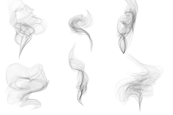 水墨烟雾状态扩散PS笔刷