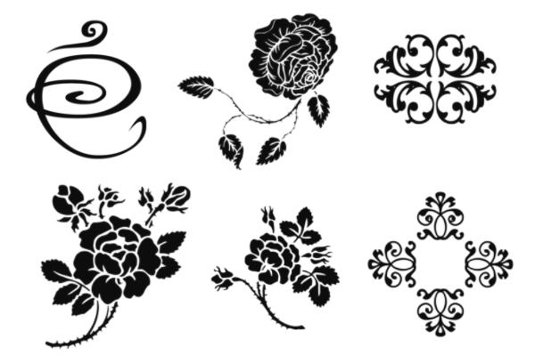 传统印花风格PS笔刷