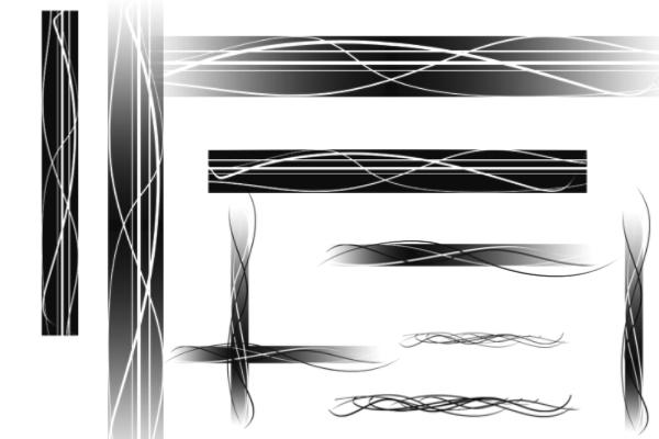 线条边框装饰品PS笔刷