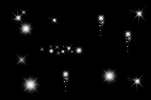 荧光、星光背景纹理PS笔刷