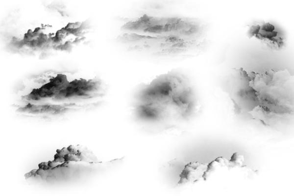 逼真高云层、云朵纹理PS笔刷