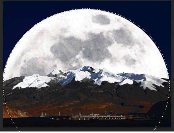 PS合成出超级大月亮